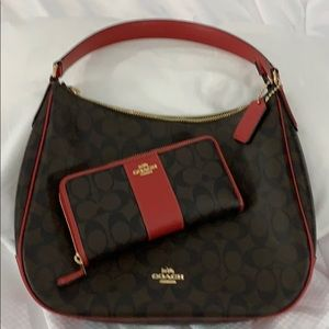 Authentic Coach purse w/matching wallet